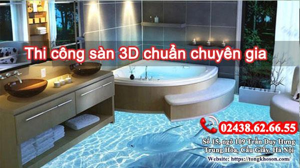 Thi công sàn 3D chuẩn chuyên gia