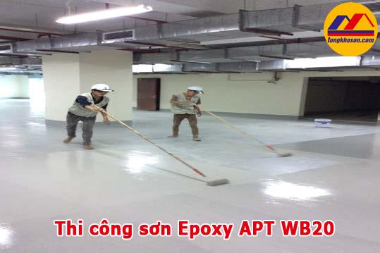 Quy trình thi công sơn Epoxy APT KeraSEAL WB20 gốc nước