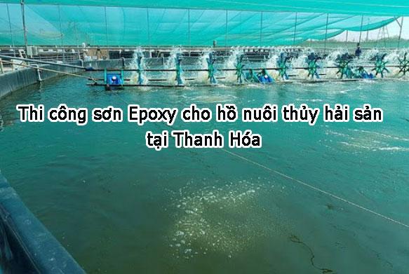 Thi công sơn Epoxy hồ nuôi thủy hải sản tại Thanh Hóa