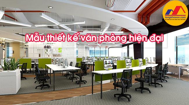 [Tổng hợp] Mẫu thiết kế văn phòng làm việc hiện đại