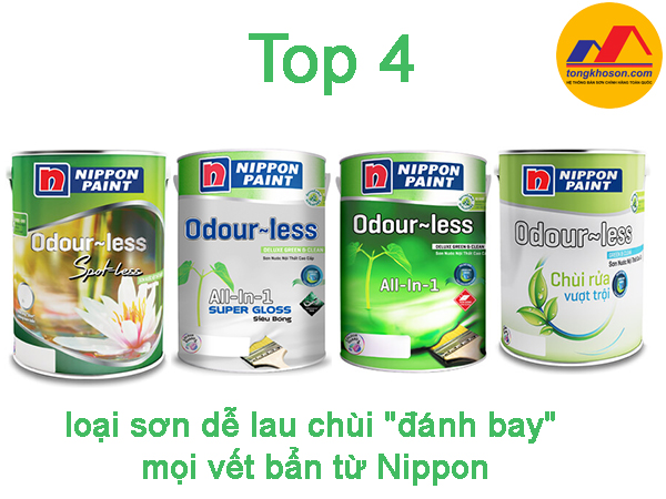 """Top 4 loại sơn dễ lau chùi """"đánh bay"""" mọi vết bẩn từ Nippon"""
