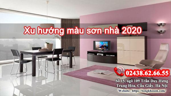 Xu hướng màu sơn nhà năm 2020