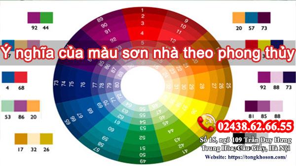 Ý nghĩa của màu sơn nhà theo phong thủy