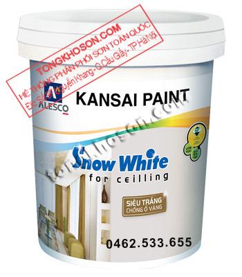 Sơn Kansai Snow White siêu trắng dùng cho trần nhà