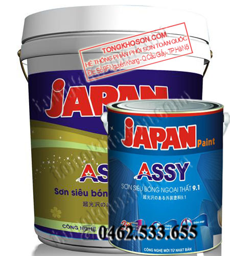 Sơn Japan Assy siêu bóng ngoại thất 9in1