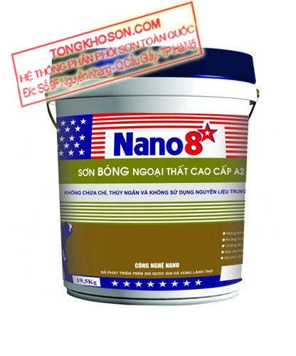 Sơn Nano 8 sao A2 ngoại thất bóng cao cấp