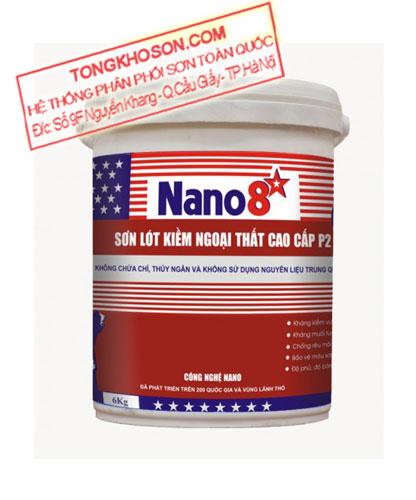 Sơn lót chống kiềm Nano 8 sao P2 ngoại thất cao cấp