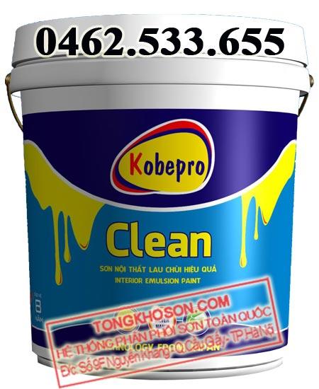 Sơn Kobepro Clear nội thất lau chùi hiệu quả