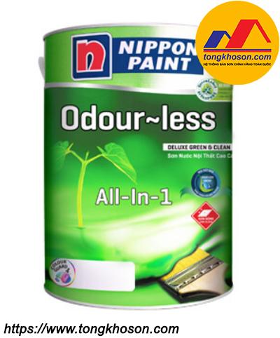 Sơn Nippon Odourless All- in- 1 nội thất bóng không mùi