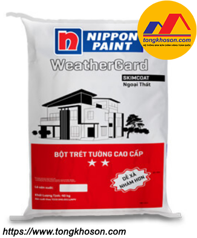 Bột trét tường Nippon WeatherGard Skimcoat hai sao ngoại thất