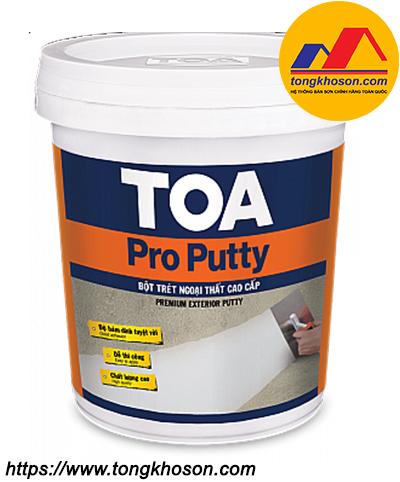 Bột trét tường TOA Pro Putty ngoại thất