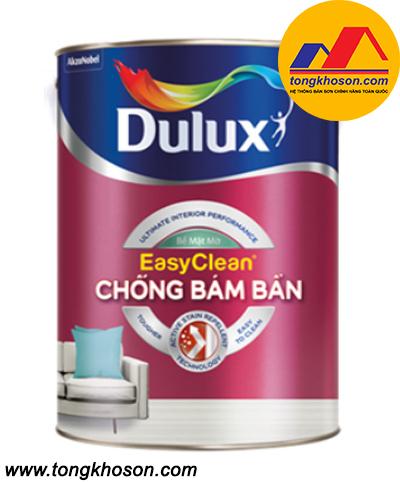Sơn nội thất cao cấp Dulux Easy Clear chống bám bẩn (Z966) - bề mặt mờ