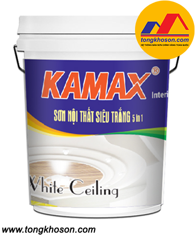 Sơn Kamax nội thất siêu trắng 5 in 1