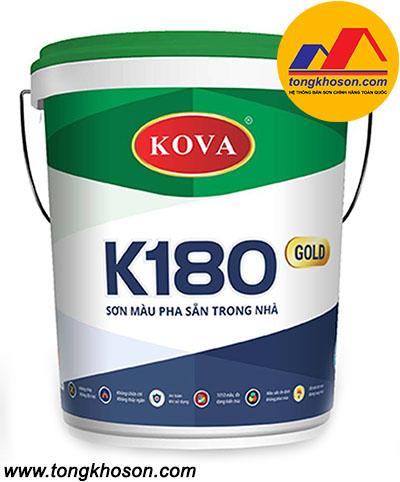 Sơn Kova K180 màu pha sẵn trong nhà