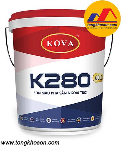 Sơn Kova K280 màu pha sẵn ngoài trời