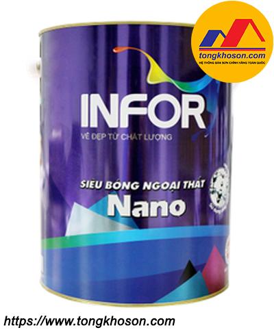 Sơn Infor Nano Protech ngoại thất siêu bóng