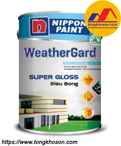 Sơn Nippon WeatherGard Super Gloss ngoại thất siêu bóng