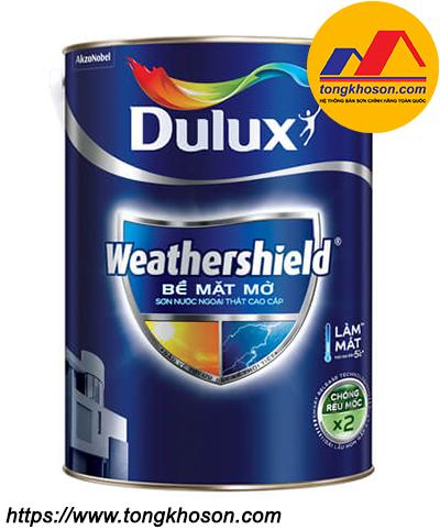 Sơn ngoại thất Dulux WeatherShield BJ8 bề mặt mờ
