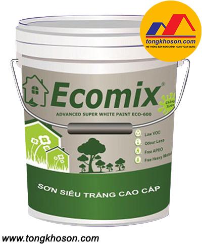 Sơn siêu trắng Ecomix Eco-600 nội thất cao cấp Super White