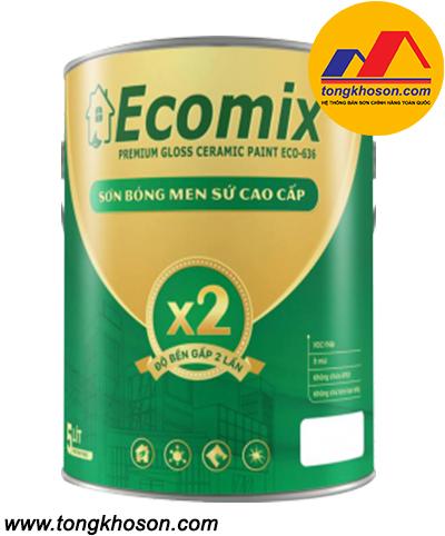 Sơn Ecomix ECO-636 nội thất siêu bóng men sứ cao cấp