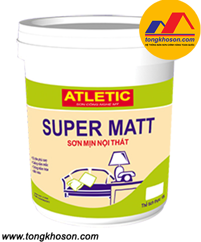Sơn Atletic mịn nội thất Super Matt