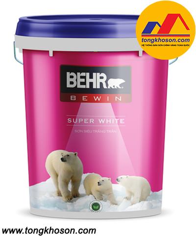 Sơn Behr siêu trắng nội thất Super White