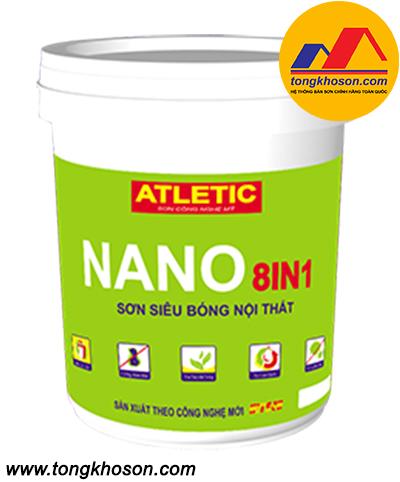 Sơn Atletic siêu bóng nội thất Nano 8in1