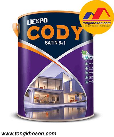 Sơn Oexpo Cody Satin 6+1 ngoại thất bóng