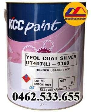 Sơn chịu nhiệt 200ᴼC KCC màu bạc