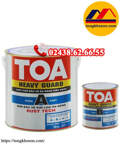 Sơn chống rỉ epoxy TOA HeavyGuard Rust Tech