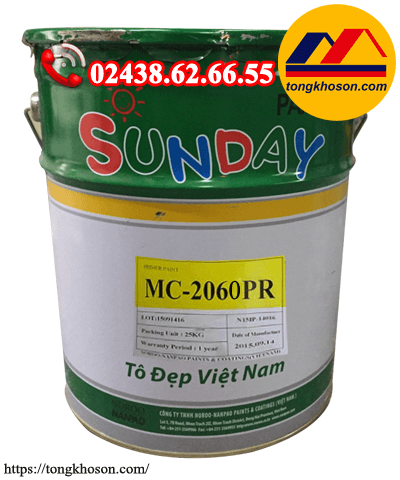Sơn chống rỉ xám Sunday MC2060
