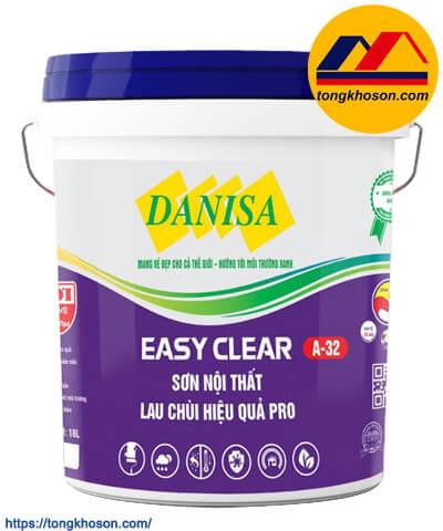 Sơn danisa Easy Clear nội thất lau chùi hiệu quả