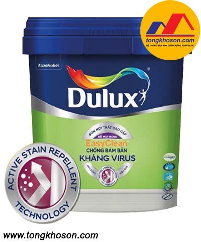 Sơn nước nội thất cao cấp Dulux Easyclean chống bám bẩn kháng virus bề mặt mờ-E016M