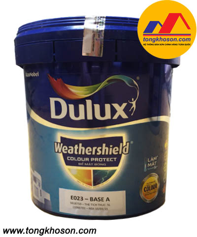 Sơn ngoại thất Dulux WeatherShield Colour Protect bề mặt bóng