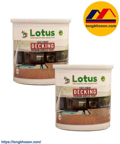 Sơn phủ giả gỗ Lotus Decking
