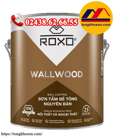 Sơn giả gỗ dùng cho bê tông Roxo Wall Wood