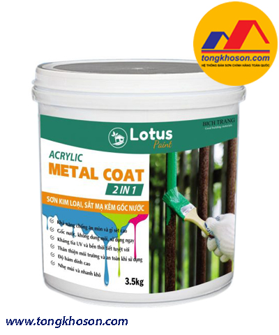 Sơn kim loại đa năng Lotus Metal Coat 2 IN 1