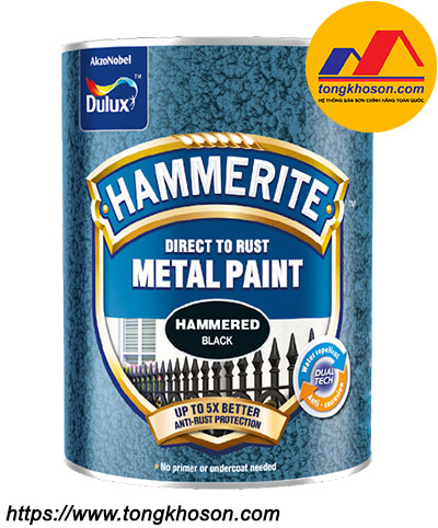 Sơn kim loại Dulux Hammerite bề mặt vân