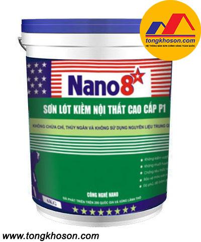 Sơn lót chống kiềm Nano 8 sao P1 nội thất cao cấp