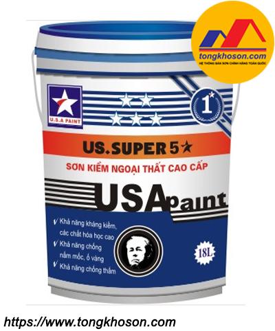 Sơn lót chống kiềm ngoại thất USA Paint Super 5 sao