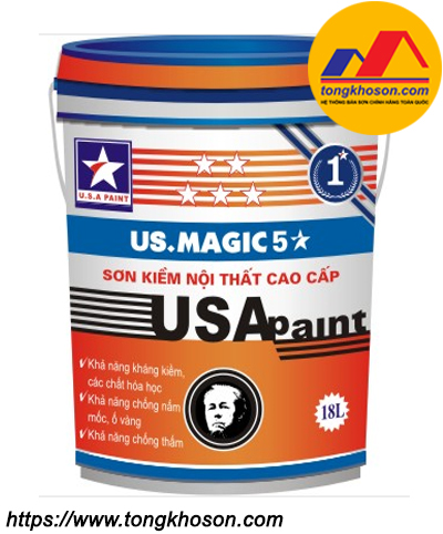Sơn lót kháng kiềm nội thất USA Paint US.Magic 5 sao