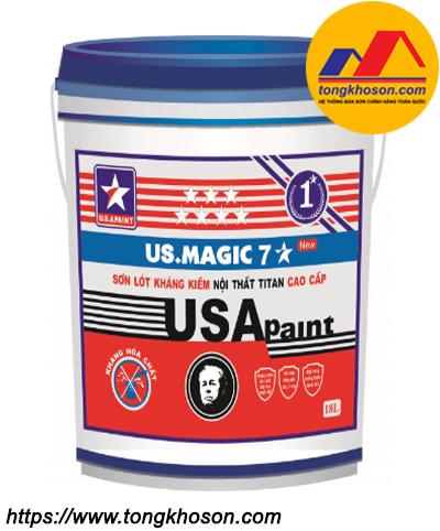 Sơn lót kháng kiềm nội thất USA Paint US.Magic 7 sao
