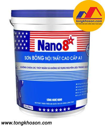 Sơn Nano 8 sao A1 nội thất bóng cao cấp
