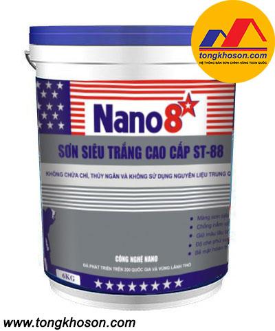 Sơn Nano 8 sao ST88 nội thất siêu trắng cao cấp