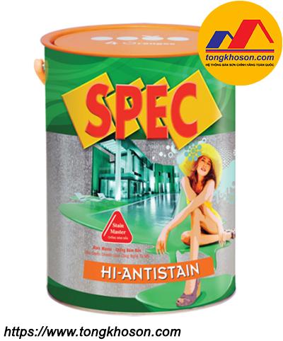 Sơn Spec Hi-Anti Stain ngoại thất chống bám bẩn