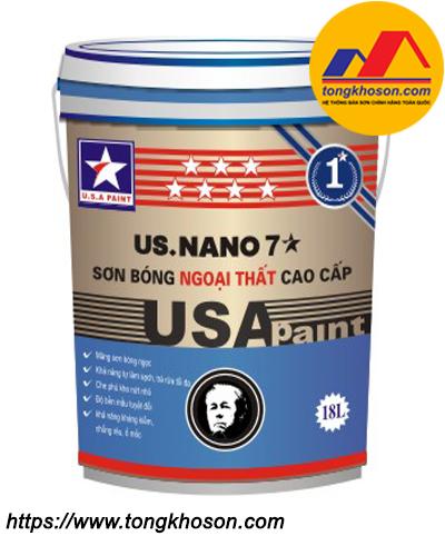 Sơn ngoại thất bóng ngọc trai USA Paint US.Nano 7 sao