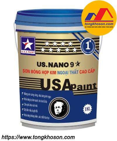 Sơn ngoại thất siêu bóng hợp kim chống nóng USA Paint US.Nano 9 sao