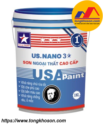 Sơn ngoại thất mịn USA Paint US.Nano 3 sao