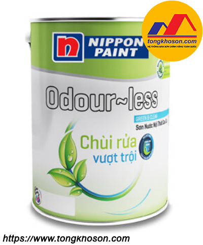 Sơn Nippon Odourless chùi rửa vượt trội nội thất