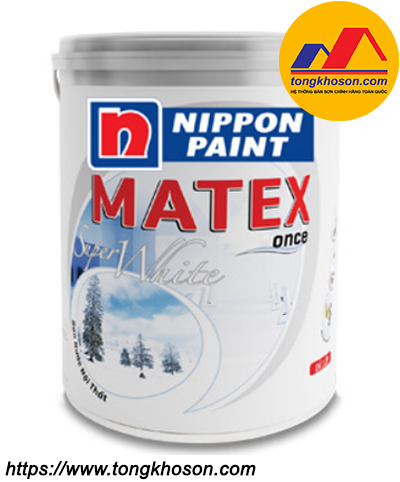 Sơn trần Nippon Matex Super White nội thất mịn